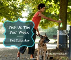 pet calendar pick up the poop week